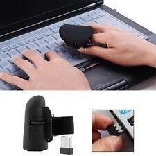 Mini Wireless USB Finger Mouse Optical Handheld Trackball Ring Mice for Laptops
