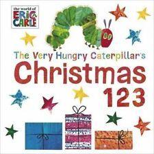 THE VERY HUNGRY CATERPILLAR'S CHRISTMAS 123- Eric Carle Board book 2014-LIKE NEW