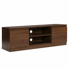 Artiss B0N2T1RUDWVGCIF TV Stand Entertainment Unit with Storage - Walnut