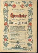 Philipp zu Eulenburg - Rosenlieder