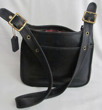 Coach Black Leather Medium Crossbody Shoulder Bag Sold AS IS Broken Zipper