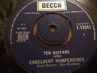 "ENGELBERT HUMPERDINCK "" TEN GUITARS / RELEASE M "" 7"" SINGLE DECCA 1967 VG"