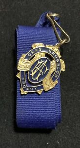 SUPERB REPLICA AFL BROWNLOW MEDAL WITH PRESENTATION RIBBON
