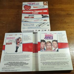Romantic Box Set DVD R4 Bridget Love Actually About a Boy Notting Hill  VGC