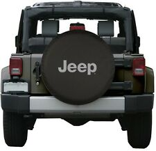 "Black Jeep Logo Spare Tire Cover Wheel R17 32"" Accessory New Free Shipping USA"