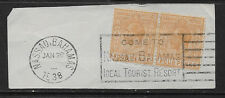 BAHAMAS , GEORGE V 1921/34 , TWO FOUR PENCE STAMPS ,  PERF, NICE CANCEL ,