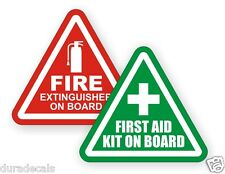"3"" Fire Extinguisher First Aid Kit on Board Vinyl Decals 