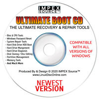 Ultimate Boot CD Disk 5.3.8 Computer PC Repair Tools Backup & Recovery Utilities