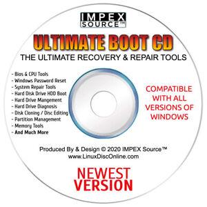 Ultimate Boot CD Disk 5.3.9 Computer PC Repair Tools Backup & Recovery Utilities