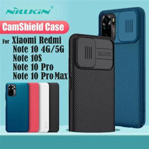 For Xiaomi Redmi Note 10 Pro Max 10S Case NILLKIN Slide Camera Protect Cover