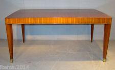 Decoene Freres , Table Epoque Art Deco en acajou pommelé..... et bronze