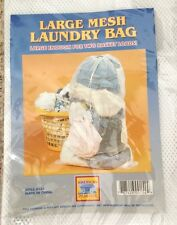 """White 21X30"""" Net Mesh Bag Tote Laundry Bag with 1 Compartment"""