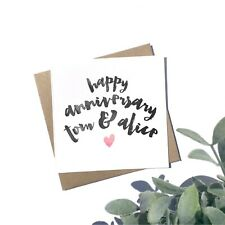 Personalised Anniversary Card - First Anniversary Card