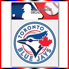 "Toronto Blue Jays MLB Die Cut Vinyl Sticker Car Bumper Window 4""x4"""