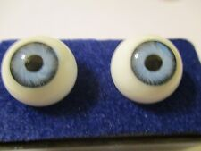 20 mm Vintage Blue Glasaugen Glass Eyes 12 mm Iris W. Germany Doll Mannequin