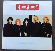 "HEART - Who Will You Run To 7"" Vinyl Record Single EX+ 1987 Australian Pressing"