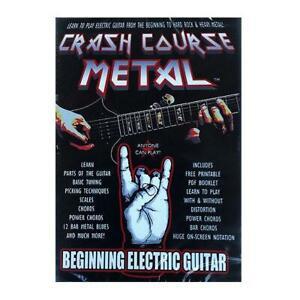 CRASH COURSE METAL BEGINNING ELECTRIC GUITAR DVD