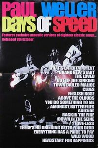 The Jam Paul Weller 2001 Days Of Speed Original Promo Poster