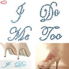 I Do & Me Too Set Wedding Vinyl Shoe Decals Bride Groom Shoes Stickers