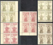 ESPAÑA 1930 - EDIFIL 531/35**- BLOQUE DE 4 - DESCUBRIMIENTO DE AMÉRICA - MNH
