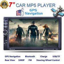 "Bluetooth Car Stereo Radio 2 Din 7""Hd Mp5 Fm Player Gps Navi Us Map+Rear Camera"