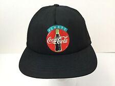 Vintage Coke Hat Always Coca Cola USA Snapback Old Cap Classic Logo Black