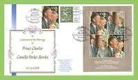 G.B. 2005 Royal Wedding m/s on dual cancel Buckingham First Day Cover, Windsor