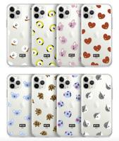 BT21 Pattern Series Ver.2 Clear Jelly Case Official Kpop Goods LINEFRIEND