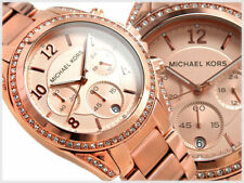 NEW MICHAEL KORS BLAIR ROSE GOLD CHRONOGRAPH STAINLESS STEEL LADIES WATCH MK5263
