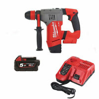 Milwaukee M18CHPX SDS Plus Hammer Drill 1x5.0Ah Batteries and Rapid Fast Charger
