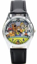 Scooby Doo Cast in Mystery Machine Black Leather Band Wrist Watch