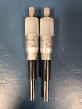 Mitutoyo 151 238 Micrometer Head 0 1 0001 Lot Of 2 Machinist Carbide Tip