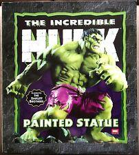 "INCREDIBLE HULK GREEN FULL SIZE 13"" STATUE BY BOWEN DESIGNS #2308 /3000"