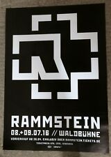Rammstein     Konzertposter   2016    Berlin  - riesig