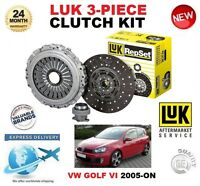 FOR VW GOLF VI + PLUS 1.6 2.0 TDi + 16V 4Motion 2005-ON CLUTCH KIT LUK 3 PIECE