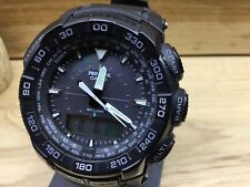 New!! Casio Protrek Solar Power Compass Men's Watch PRG550 (5213)