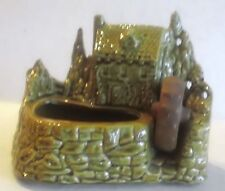 Vintage Shawnee Gristmill 769 Planter, Green with Brown Water Wheel, No Damage