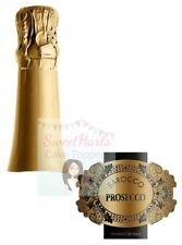 Prosecco Wine Bottle Label Edible Icing Cake Topper Decoration