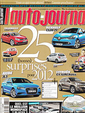 L'AUTO JOURNAL N° 845 . ESSAI RETRO : AUDI 80 QUATTRO  KIA OPTIMA  FORD RANGER