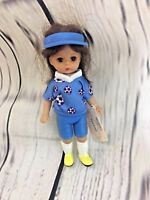 McDonalds 2005 Madame Alexander Kick It Girl Figure # 7 Soccer Doll Toy Blue A4