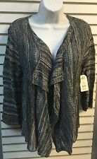 Faded Glory Women's Long Sleeve  Gray Shrug Sweater Size M(8-10) #414