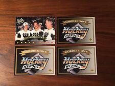 GORDIE HOWE 1992/93 92/93 UPPER DECK HOCKEY 6 card lot, 4+ 2 bonus gordie cards