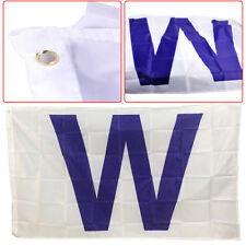 3x5 feet W Flag Chicago Cubs Fans Indoor Outdoor Win Banner Baseball Team