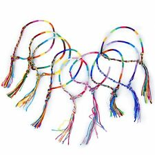 9x Braided Thread Friendship Bracelets Wrist Ankle Bracelet--Radom Color LW