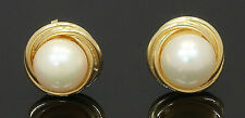 14 Carat Yellow Gold Cultured Pearl Stud Earrings (80.17.167)