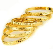 6 Piece Lot 18k Gold Bracelets Bangle Opulent Designs Womens 6 Pc. Set D415