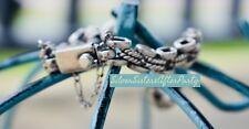 RARE SILPADA Sterling Silver Link Bracelet Center Braid Box clasp B0210 HTF! WOW