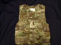 British Army MTP Body Armour ECBA / IS Cover / Vest 190/108 Grade 1 - NO ARMOUR