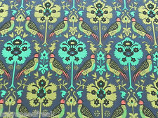 Liberty tana lawn tissu de coton byrne (a) 1.9m turquoise/violet design - 190cm