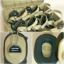 Califone Headphones Classroom Set of 6 w/ Case - Tested and working perfectly!